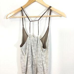 Anthropologie Dresses - anthro Deletta Tulip Wrap Maxi Dress White & Taupe